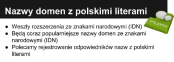 Nazwy domen z polskimi literami